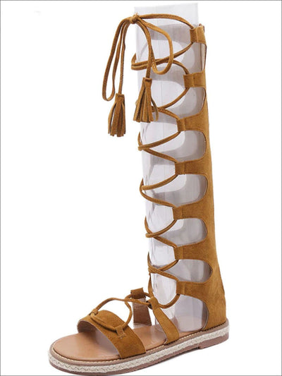 Womens Lace Up Gladiator Sandals - Womens Sandals