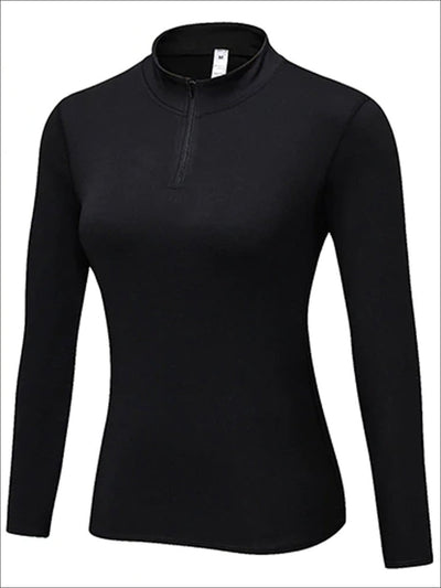 Womens Marled Zip Up Jacket - Black / S - Womens Activewear