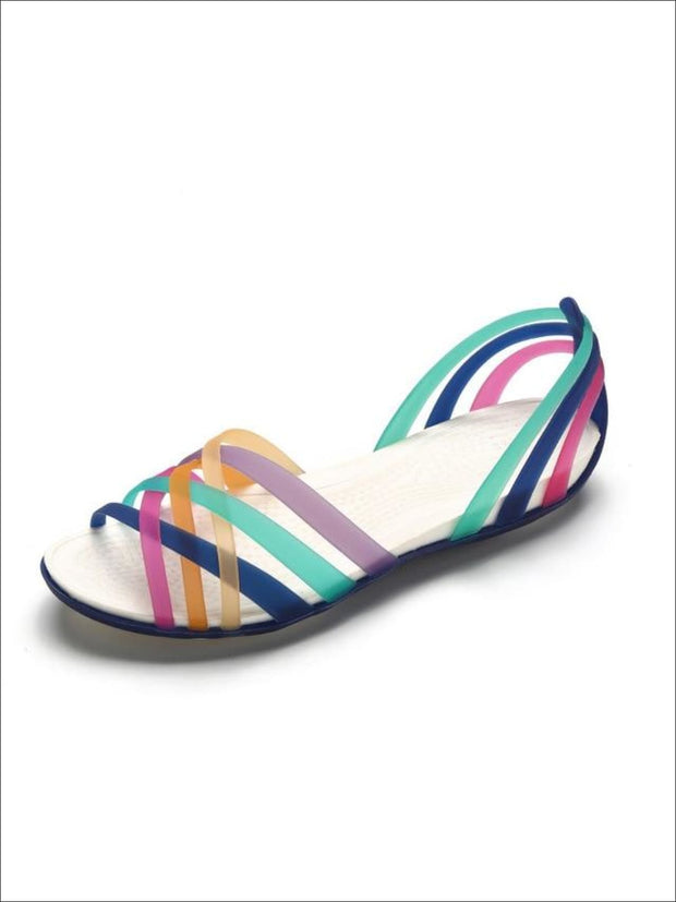 Womens Multicolor Open Toe Jelly Sandals - Womens Sandals