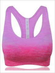 Womens Ombre Racerback Sports Bra - Pink / S - Womens Sports Bra