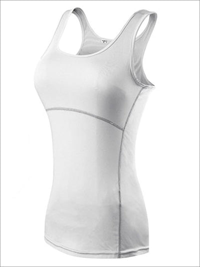 Womens Racerback Fitness Top - White / S - Womens Activewear