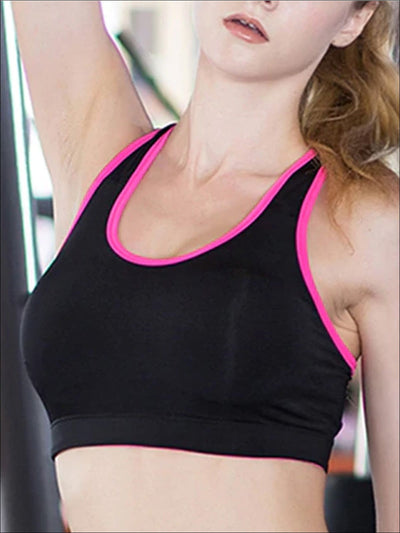 Womens Seamless Push Sports Bra - Womens Sports Bra