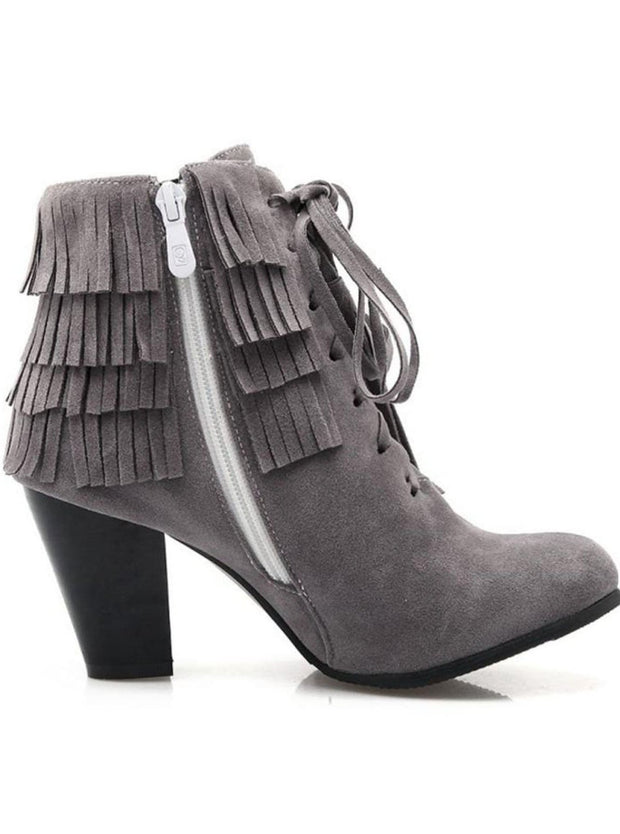 Womens Suede Lace Up Ankle Boots - Womens Boots