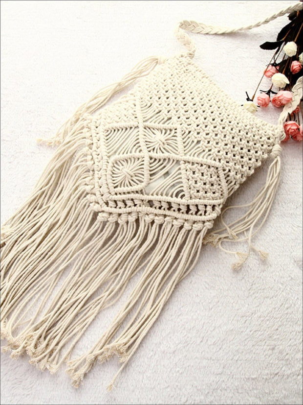 Womens Summer Fringe Boho Fashion Bag - Womens Accessories