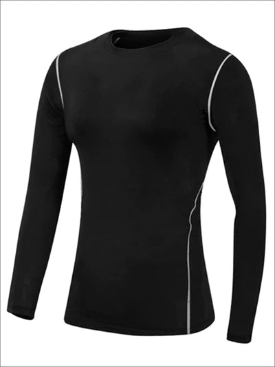 Womens Sweat-Wicking Long Sleeve Active Top - Black / S - Womens Activewear