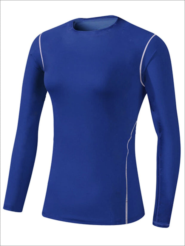 Womens Sweat-Wicking Long Sleeve Active Top - Blue / S - Womens Activewear