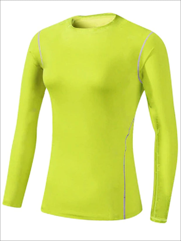 Womens Sweat-Wicking Long Sleeve Active Top - Green / S - Womens Activewear
