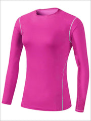 Womens Sweat-Wicking Long Sleeve Active Top - Pink / S - Womens Activewear