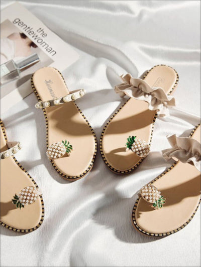 Womens Toe Ring Pineapple Sandals - Womens Sandals