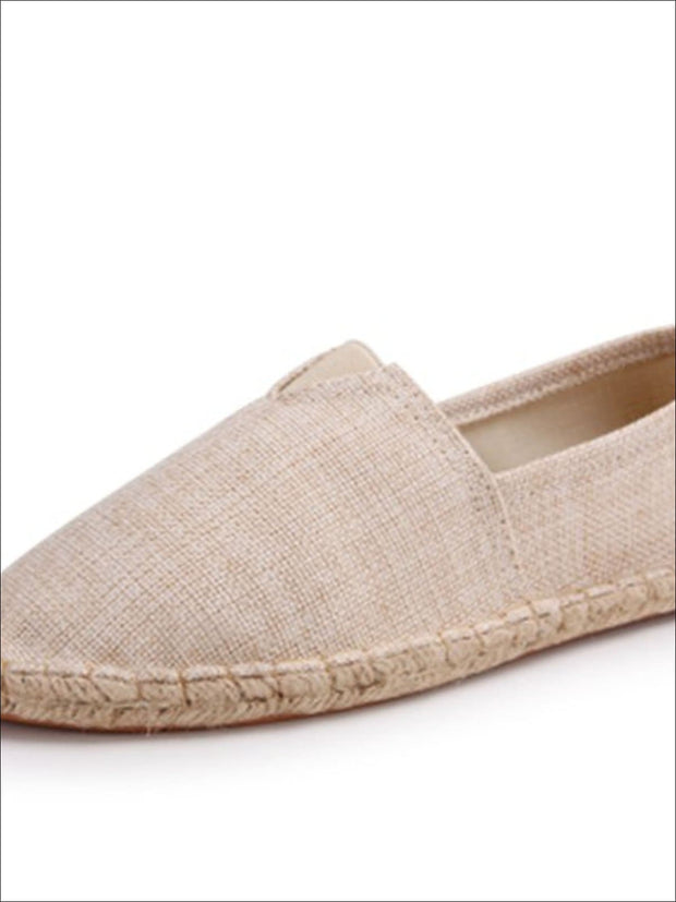 Womens Vintage Striped Espadrille Loafers (Multi Color Options) - Brown / 4 - Womens Shoes