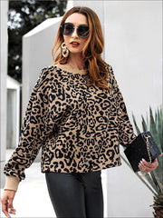 Womens Winter Knit Animal Print Casual Sweater - Womens Fall Sweaters