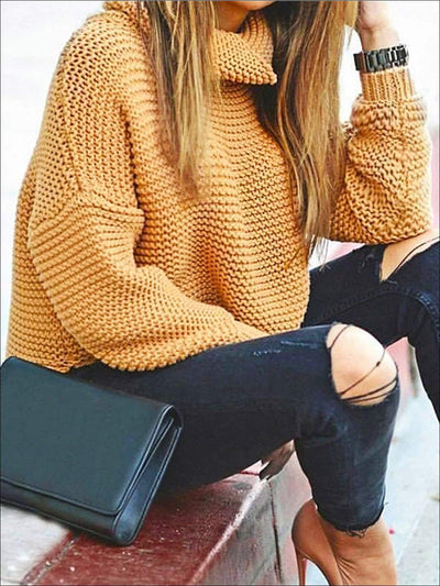 Womens Winter Knit Pullover Sweater - Womens Fall Sweaters