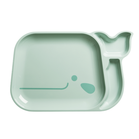 Kids 3 Room Whale Plate - Blue, from Rice.