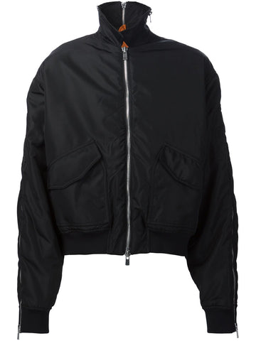 Y/Project Black Zipped Bomber - Urban Oxygen