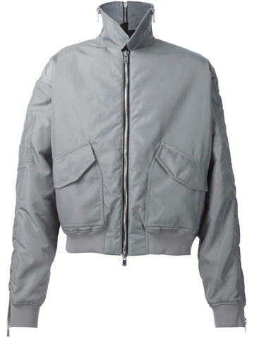 Y/Project Grey Zipped Bomber - Urban Oxygen