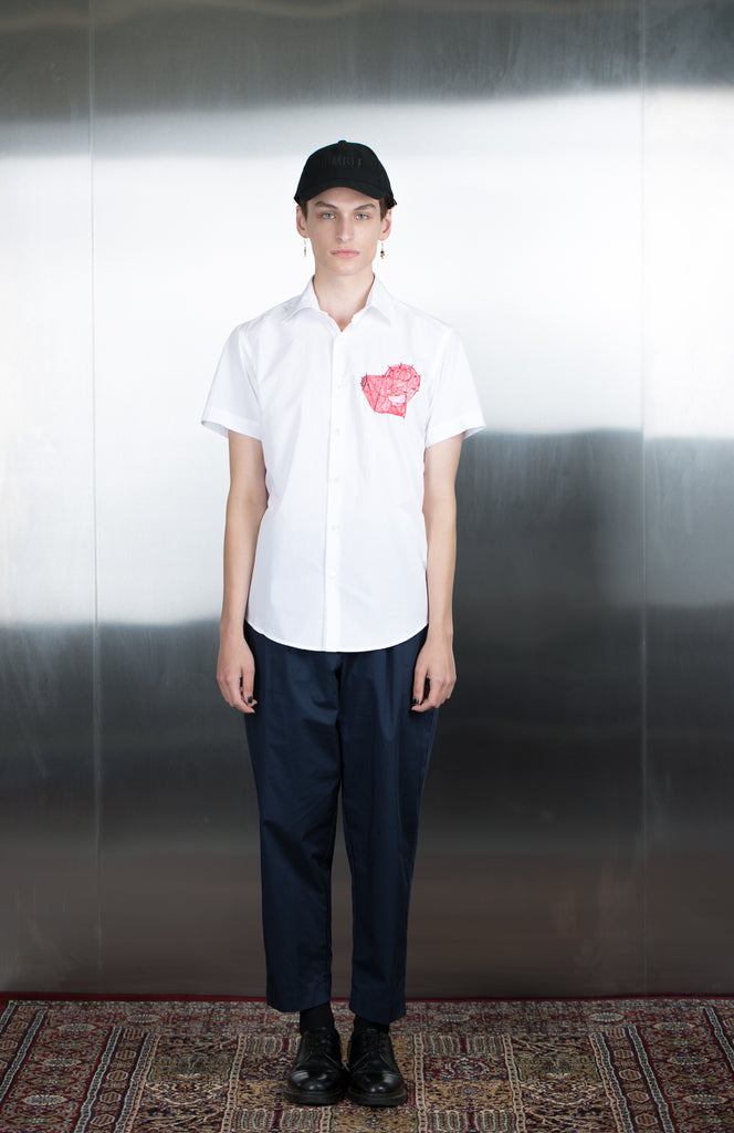 DUST Embroidered Heart Style 7  Shirt - Urban Oxygen