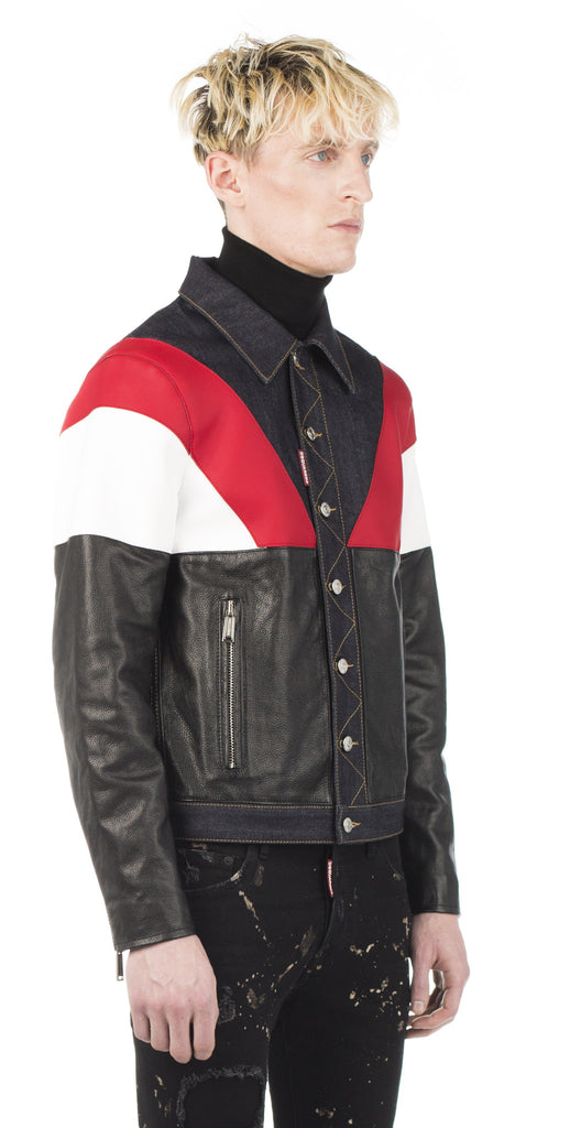 Dsquared2 Colorblock Denim Jacket - Urban Oxygen