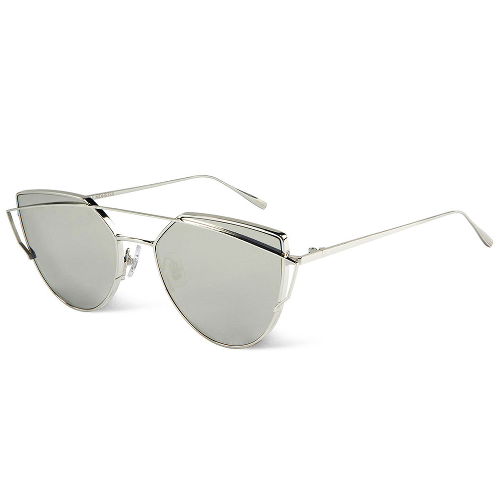 Gentle Monster Love Punch Sunglasses - Silver - Urban Oxygen