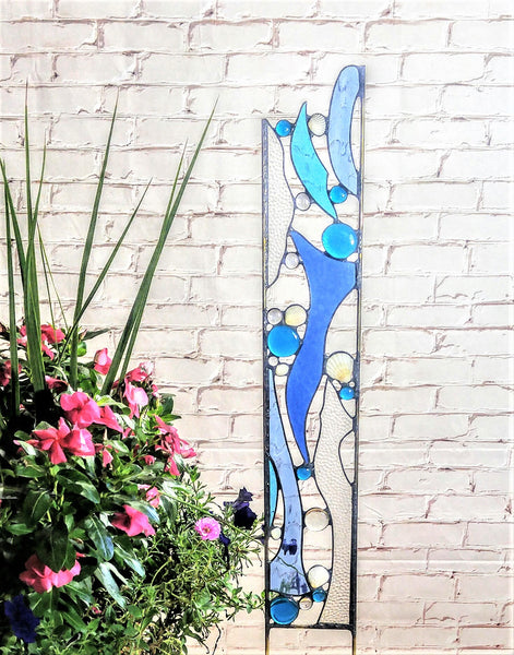 stained glass beach art by Windsong Glass Studio