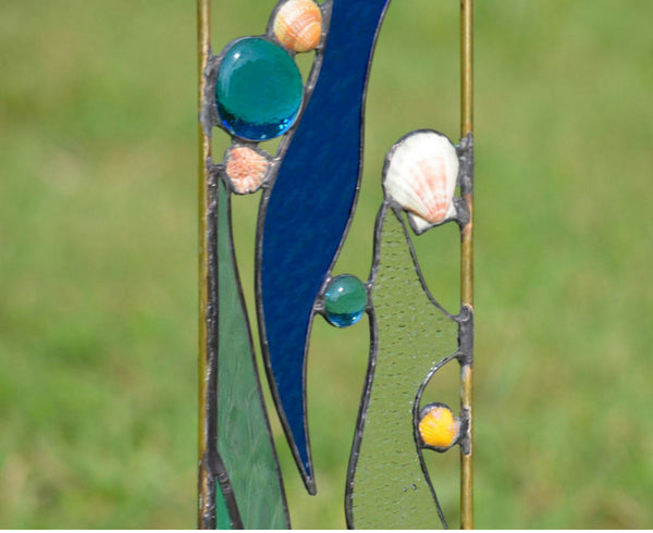 Stained Glass Yard Art  'Beachcomber'