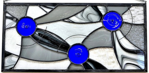 Leaded Stained Glass Panel by Windsong Glass Studio