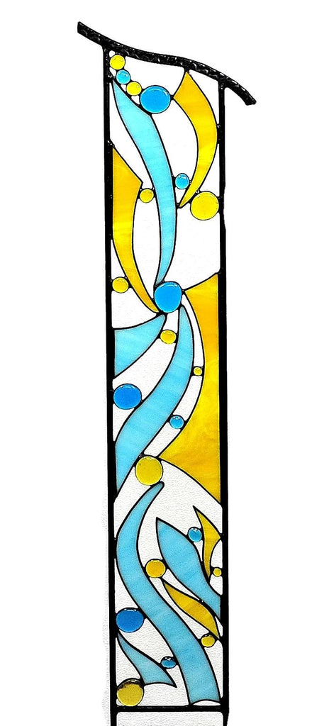 Large Stained Glass Religious Garden Art