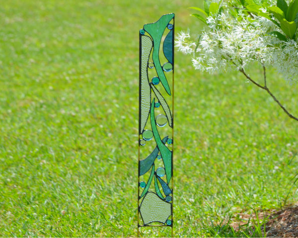 Stained Glass Garden Sculptures