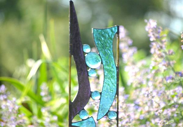 Stained Glass Garden Stake windsong glass studio