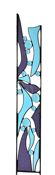 stained glass butterfly garden stakes