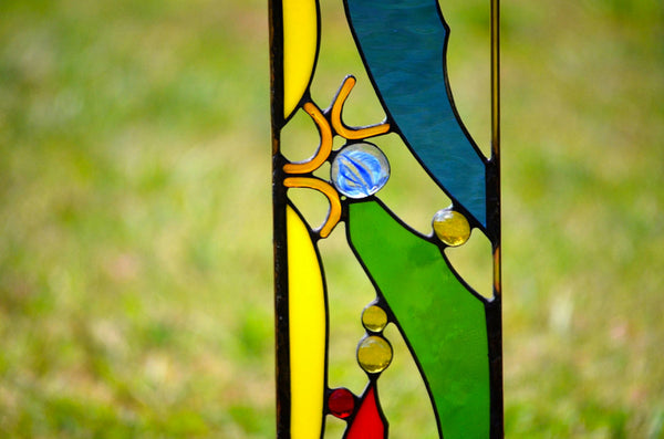Outdoor Garden Decoration by windsong glass studio