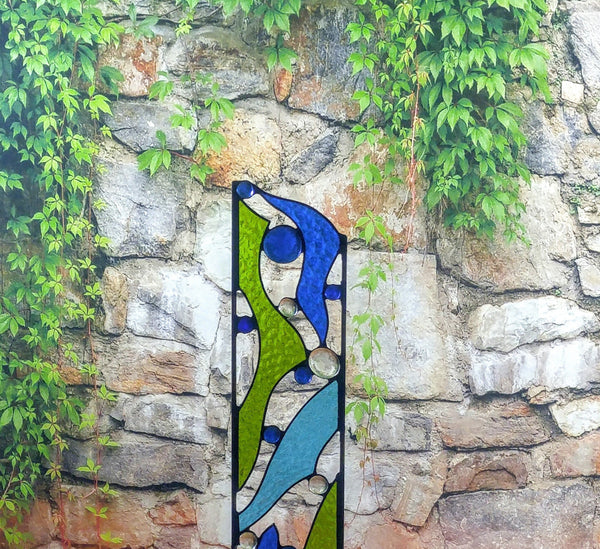 stained glass yard art