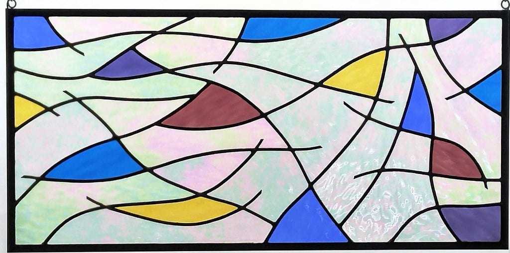 abstract stained glass art by Windsong Glass Studio