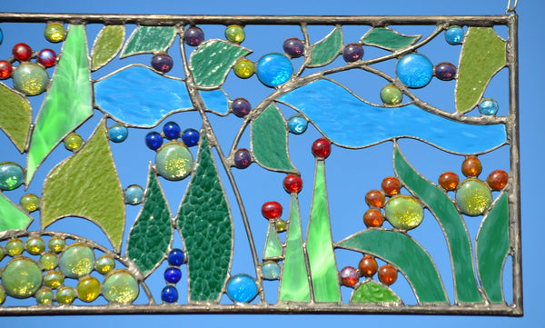 stained glass window hangings suncatchers