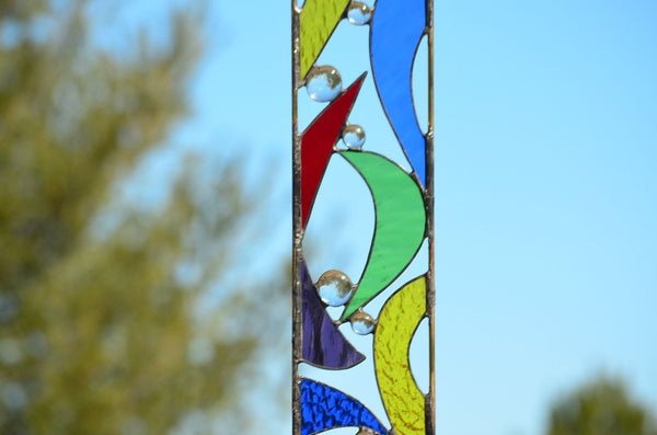 stained glass garden art