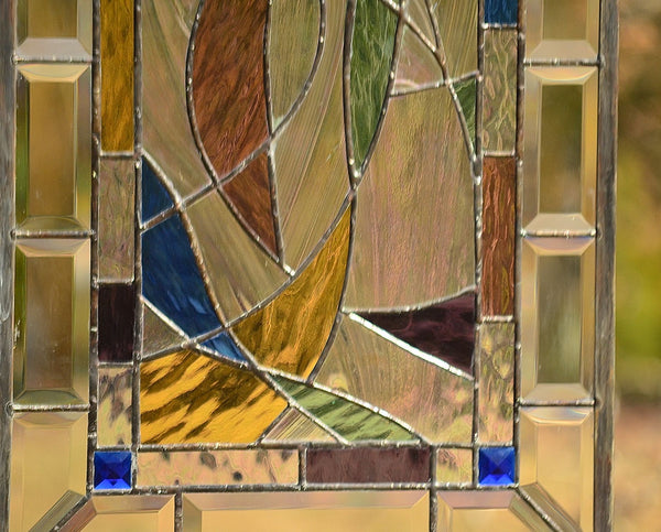modern stained glass panel