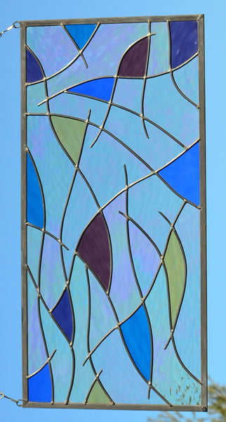 vertical stained glass window panels
