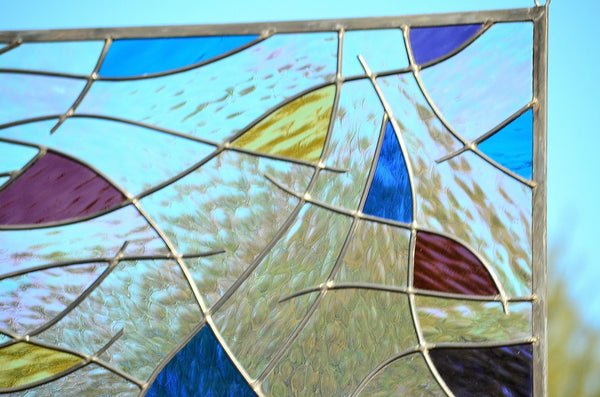 leaded glass window panel