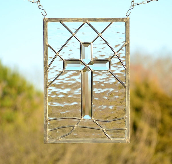 beveled cross by Windsong Glass Studio
