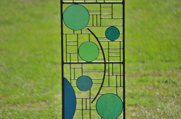 stained glass garden stakes