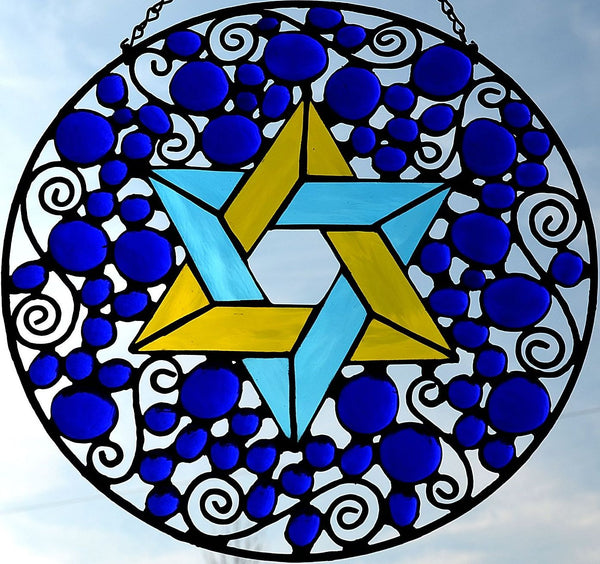 Custom Religious Stained Glass Panel
