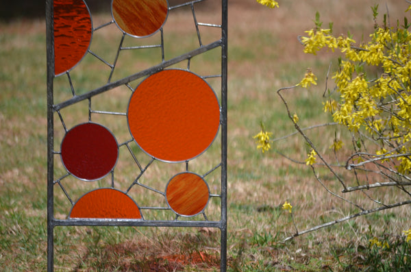 large garden art by Windsong Glass Studio