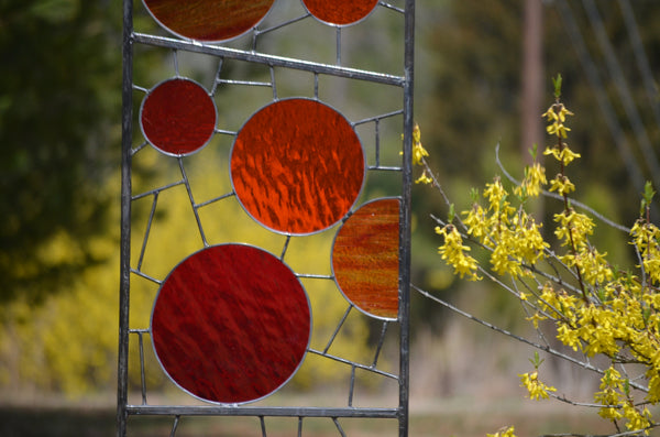 decorative glass garden stakes by Windsong Glass Studio