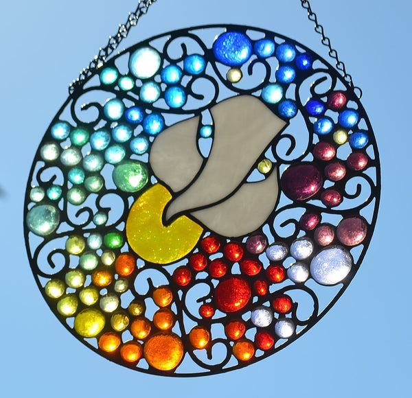 Religious Stained Glass Suncatcher