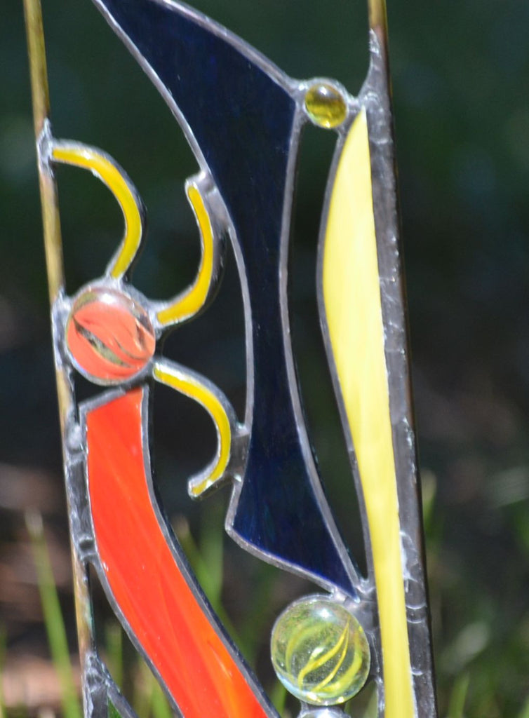 ... Windsong Glass Studio Stained Glass Garden Decor ...