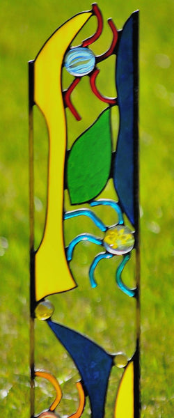 Contemporary Stained Glass Garden Art