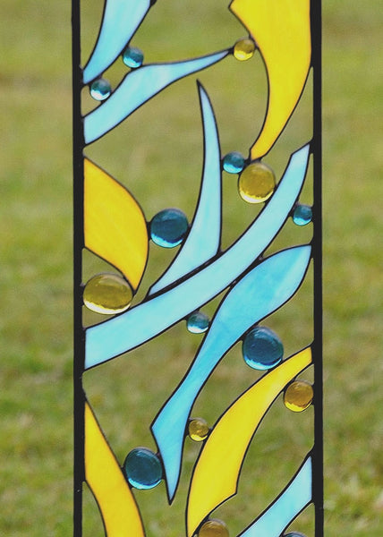 Custom Stained Glass Garden Art