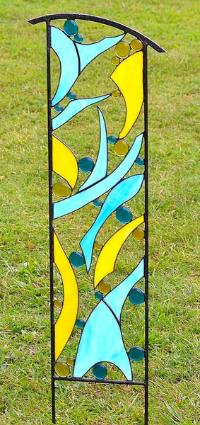 Outdoor Garden Sculpture by windsong glass studio