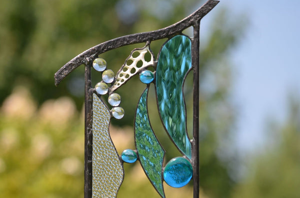 windsong glass studio Stained Glass Garden Sculptures