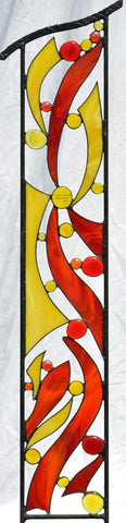 Stained Glass Garden Sculpture with Optional Religious Verse