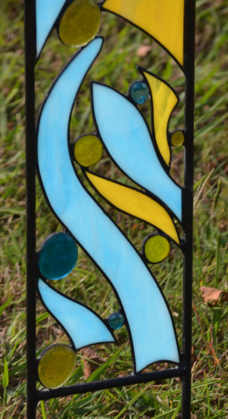 Custom Stained Glass Garden Decoration with Optional Religious Verse